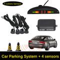 12V LED Car Parking Sensor Monitor Auto Reverse Backup Radar Detector System LED Display 4 Sensors
