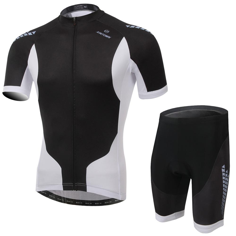 Здесь можно купить  Fashion Reflect UV Men MTB BMX outdoor Man Cycling clothing Cycling wear Cycling jersey short sleeve Bib Shorts Suite Black 249  Спорт и развлечения