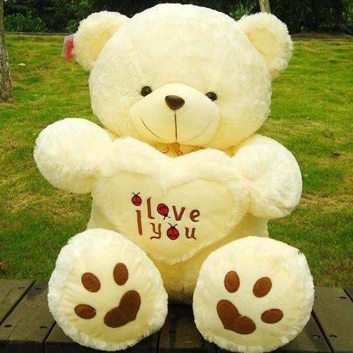 Free Shipping Large 70 cm Teddy Bear Stuffed Animals Toys Plush Doll, Giant Stuffed Bear Plush Toy For Girl Friend/Children(China (Mainland))