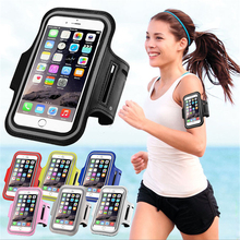 Buy Waterproof PU Sports Running Arm Band Phone Case Holder Pouch iPhone 7 6 6S Plus SE 5 5C 5S 4 4S Workout Gym Cover Bag for $2.88 in AliExpress store