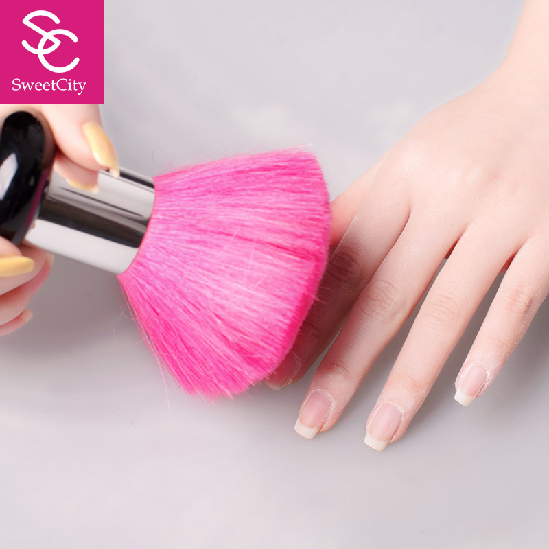 Sweet City Nail Dust Brush For Manicure Nail Art Beauty Tools Soft And Thick Random Color 1 PCS(China (Mainland))
