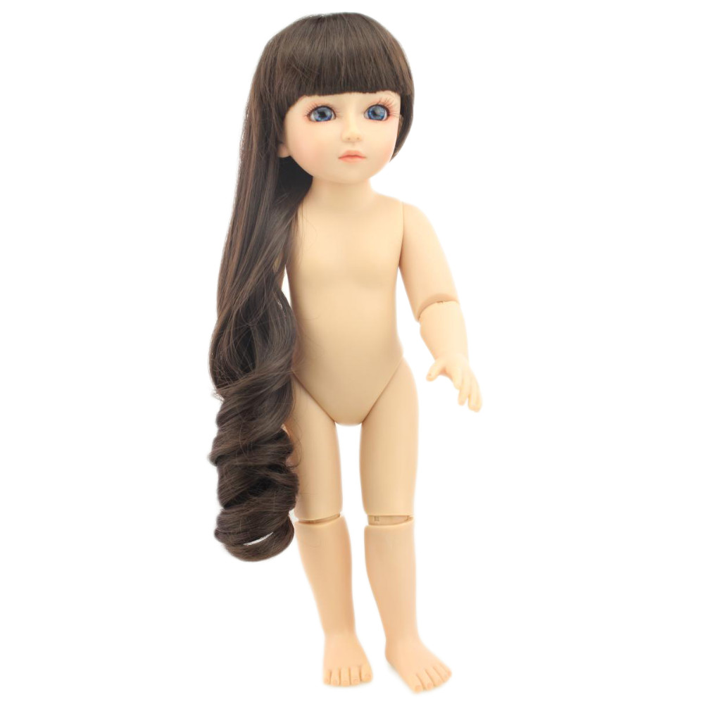Long Hair Doll 18 inch Lifelike Baby Full Silicone Body Ball Jointed BJD/SD Girl for Playhouse Toys send dress as Gift<br><br>Aliexpress