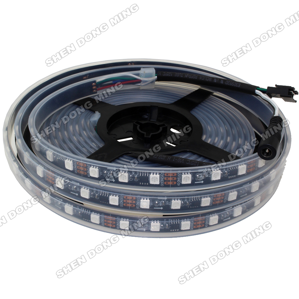Factory directly sale 15m WS2811 digital led light 60led/m 20IC Flexible Waterproof IP67 led pixel strip Changeable color rgb(China (Mainland))