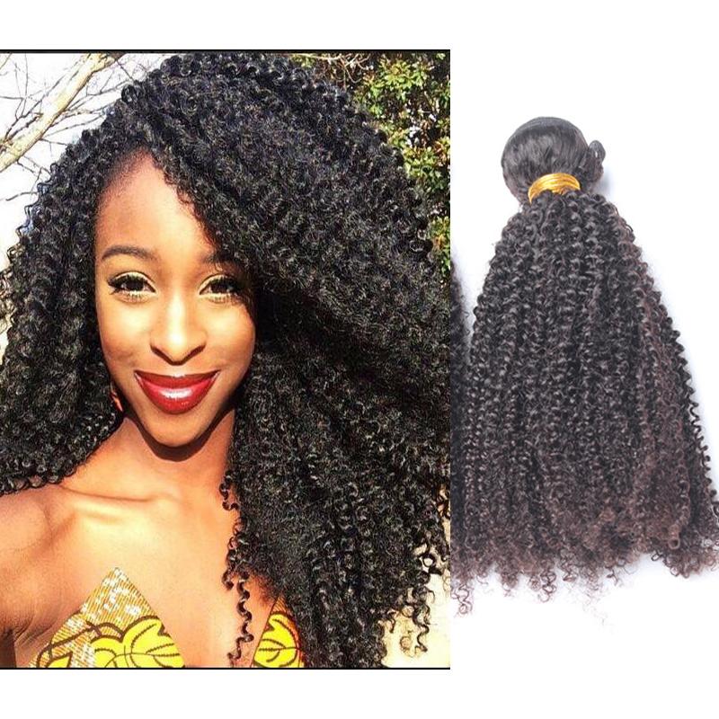 Peruvian Virgin Hair Kinky Curly Human Hair Extensions 6A 3PCS Peruvian Tight Curly Virgin Hair Weave Bundles Free Shipping
