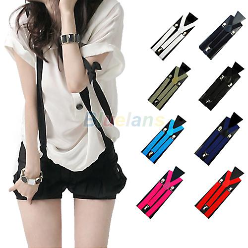 1PC New Mens Womens Unisex Clip-on Suspenders Elastic Y-Shape Adjustable Braces Colorful 1H6U(China (Mainland))