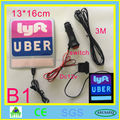 NEW Uber Lyft el flashing car sticker glow car sticker on can window with DC12V Car