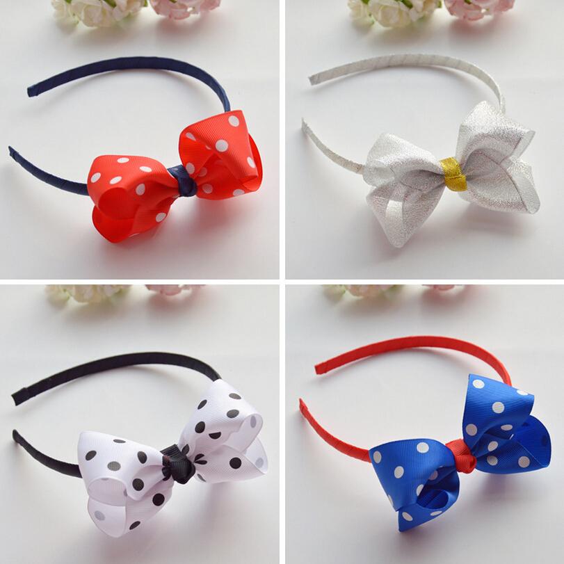 2016 New Fahion Big Red Dots Bowknot Hairband headbands Hair hoop barrettes Children girls headwear Hairbands Hair Accessories(China (Mainland))
