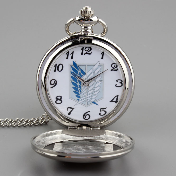 Anime jewelry necklace Pocket Watch attack of the giant signs around Pocket-factory direct stock trade(China (Mainland))