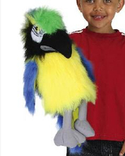 Free shipping Kumgang green puppet parrot puppet vocalization bird puppet c 128(China (Mainland))