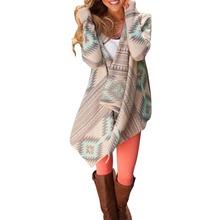 Fashion Women Outwear Boho Irregular Long Sleeve Knitted Cardigan Casual Loose Jacket Coat