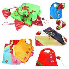38*34cm Strawberry Foldable Shopping Bag Cute Shopping Bags Strawberry Shaped Shopping Bags Reusable Bags Free Shipping(China (Mainland))