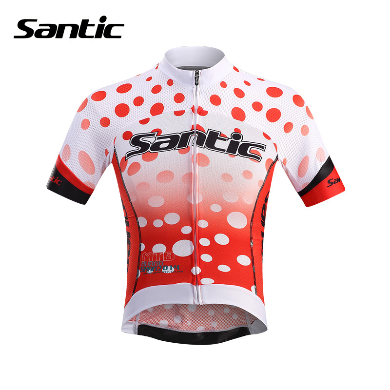 SANTIC Men's Summer Bicycle Cycling Jersey Mountain Road Bike Bicycle Clothing Outdoor Sports Quick Dry Short Sleeve Jersey Tops