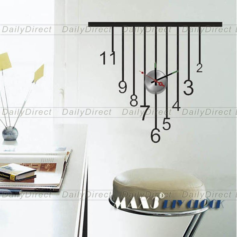 1x Wholesale Large Cool Diy Home Decor Frameless Wall Clock Vinyl Sticker Pendant Design Decal