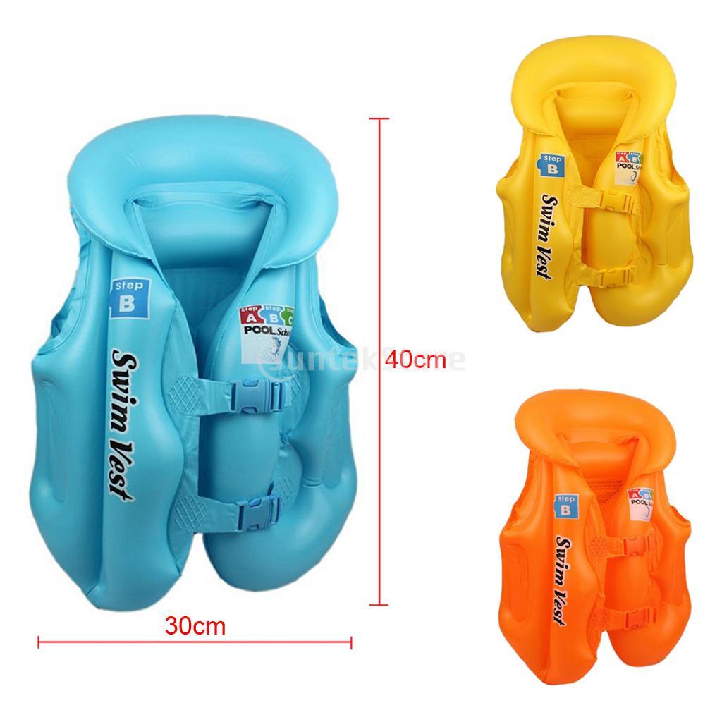 Kids Baby Float Swimming Aid Life Jacket Inflatable Swim Beach Vest(China (Mainland))