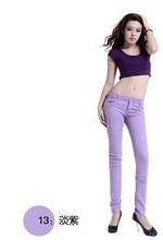 Women Sexy Pencil Pants Spring Candy Color Casual Pants Skinny Pants Cotton Summer Trousers Hot Sale YL233(China (Mainland))