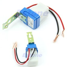 A25  Free Shipping AC DC 220V 10A Auto On Off Photocell Street Light Photoswitch Sensor Switch