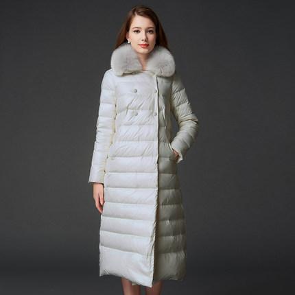 2016 new heat winter Thicken Warm woman Down jacket Coat Parkas Outerwear Raccoon Fur collar Slim long plus size 2XXL Luxury(China (Mainland))