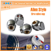 Car styling Christmas promotion Alien style Car Valve Cap , tire valve cap , EMS fast  Deliveried(China (Mainland))
