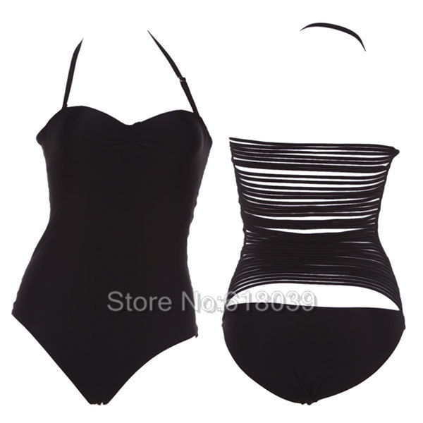 B113 VS Vintage Swimwear Sexy One Piece Biquinis Black Swimsuit For Women Beach wear Secret Brand Bathing Suits Hot New 2015