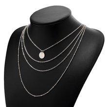 2019 nouveau multi-couche cristal lune pendentif collier dames rétro collier à breloques collier fête bijoux accessoires(China)