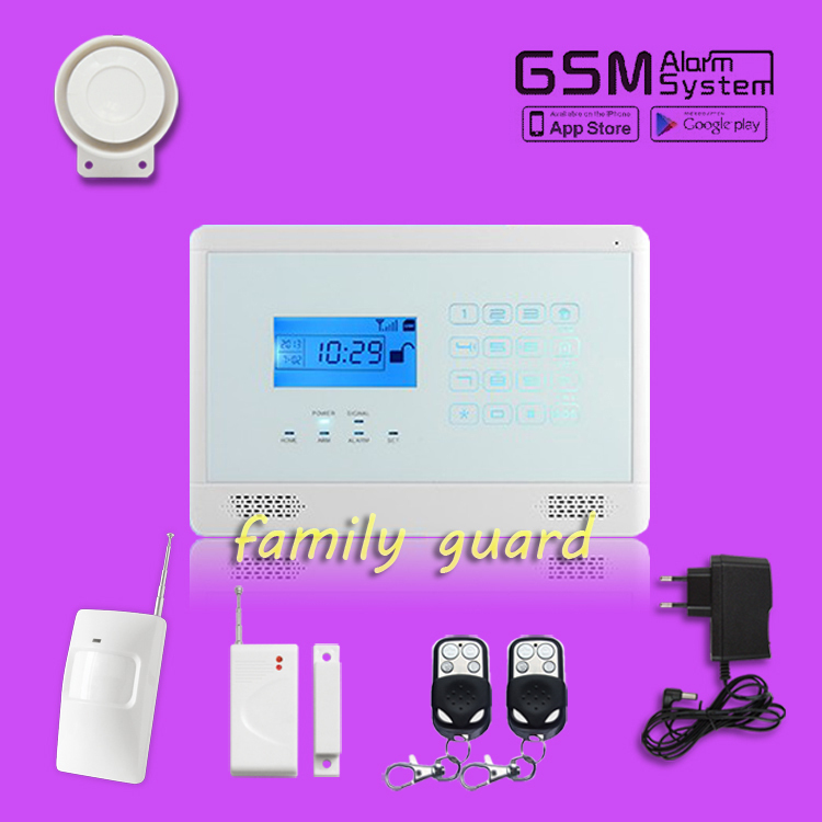 Free Shipping!M2E Wolf Guard Android IOS APP Autodial Wireless Home Burglar Intruder Touch Alarm System with Intelligent Sensors