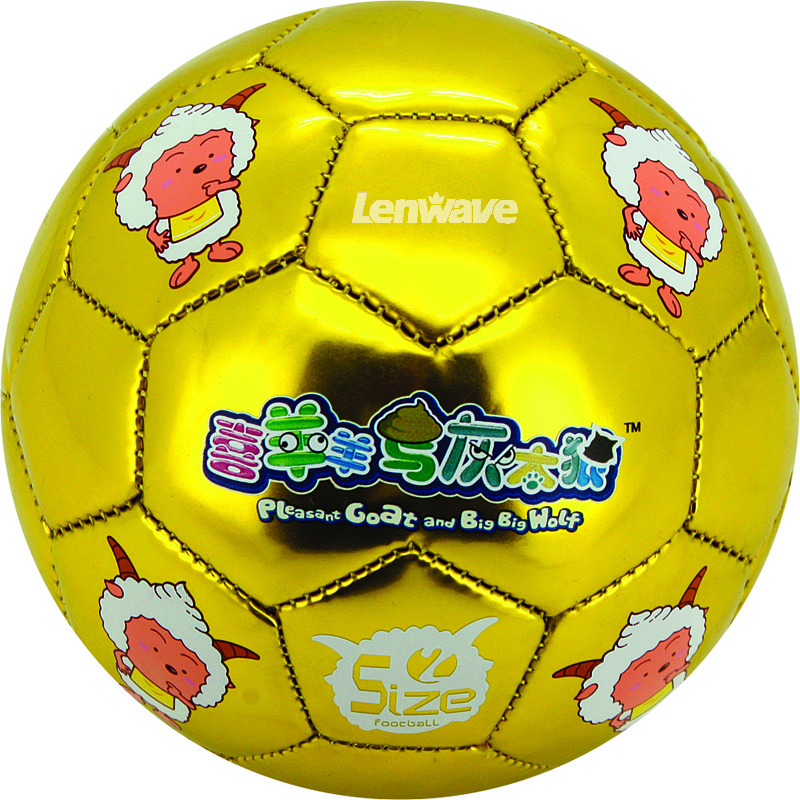 Children's football & 100% PU Material Soccer / The Soccer Diameter 14 cm And Size 2 NO.ball(China (Mainland))