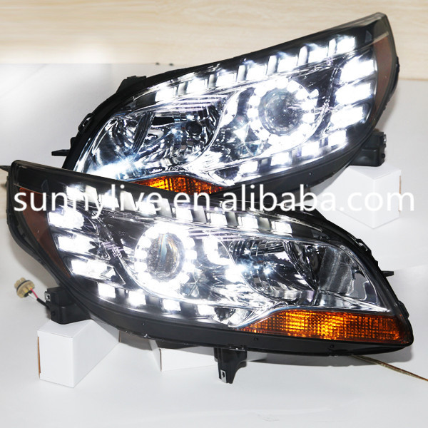 For CHEVROLET Malibu Angel Eyes LED Headlights LED Head