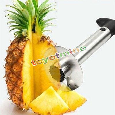 Fruit Pineapple Corer Slicer Peeler Cutter Parer Knife Kitchen Tool Stainless(China (Mainland))