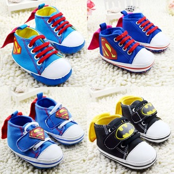 Free shipping batman baby shoes 2015 spring infant shoes 3 size superman children's casual shoes comfortable non-slip 3367