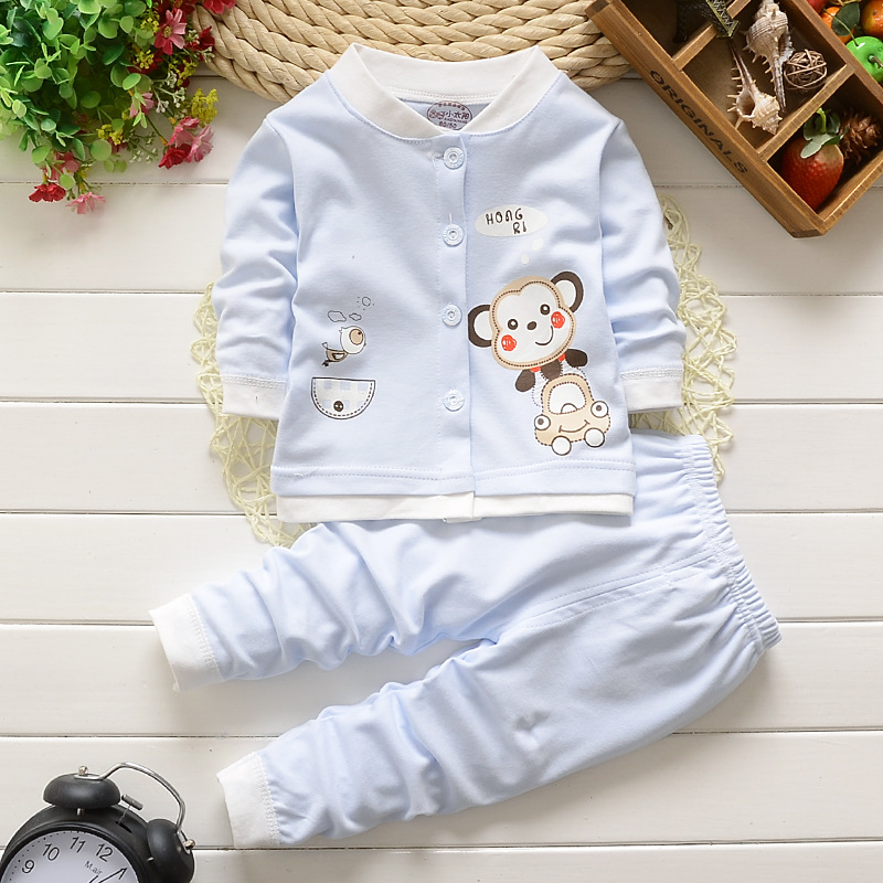 baby clothing sets 2016 autumn winter cartoon warm baby's set coat top pants 2 pieces newborn baby boys girls suits(China (Mainland))