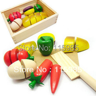1 set baby kids Pretend Play Kitchen Toys PLANTOYS play house toys fruit cut toy vegetables bread free shipping(China (Mainland))