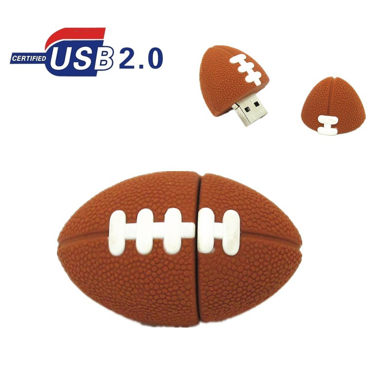 American Football Pen drive Sports Rugby U Disk 4GB 8GB 16GB 32GB USB Flash Drive Memory Stick Pendrive gift real capacity(China (Mainland))