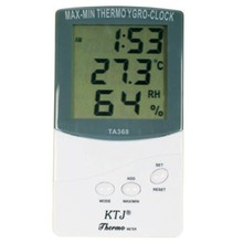Digital LCD Outdoor/Indoor Temperature Hygrometer Thermometer With Clock TA368(China (Mainland))