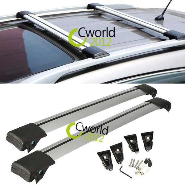 Universal Car Roof Rack Cross Bar Off Road SUV Anti-theft Lock Snowboard 150 LBS Cargo Top Luggage Carrier Adjustable 99~105 cm(China (Mainland))