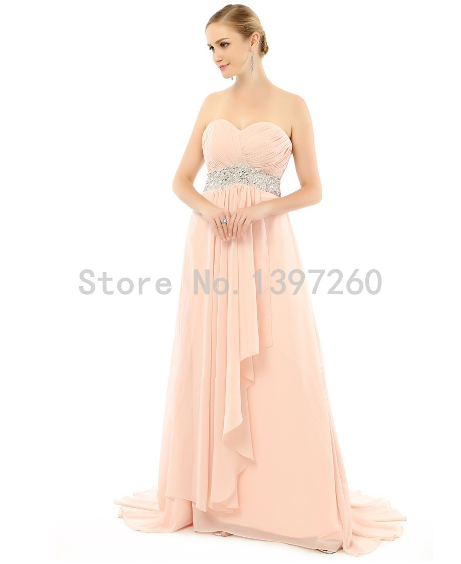 Strapless Champagne Gold Corcal Bridesmaid Dresses Long