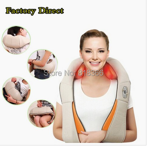 NECK and shoulder massager heat and stress relief massager belt Multi-function massage pillow Physical therapy products(China (Mainland))