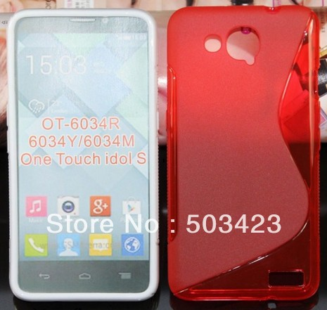 Alcatel One Touch Idol S 6034 Case,New S Line Soft TPU Gel Skin Case For Alcatel One Touch Idol S 6034 6034R 6034Y 6034M