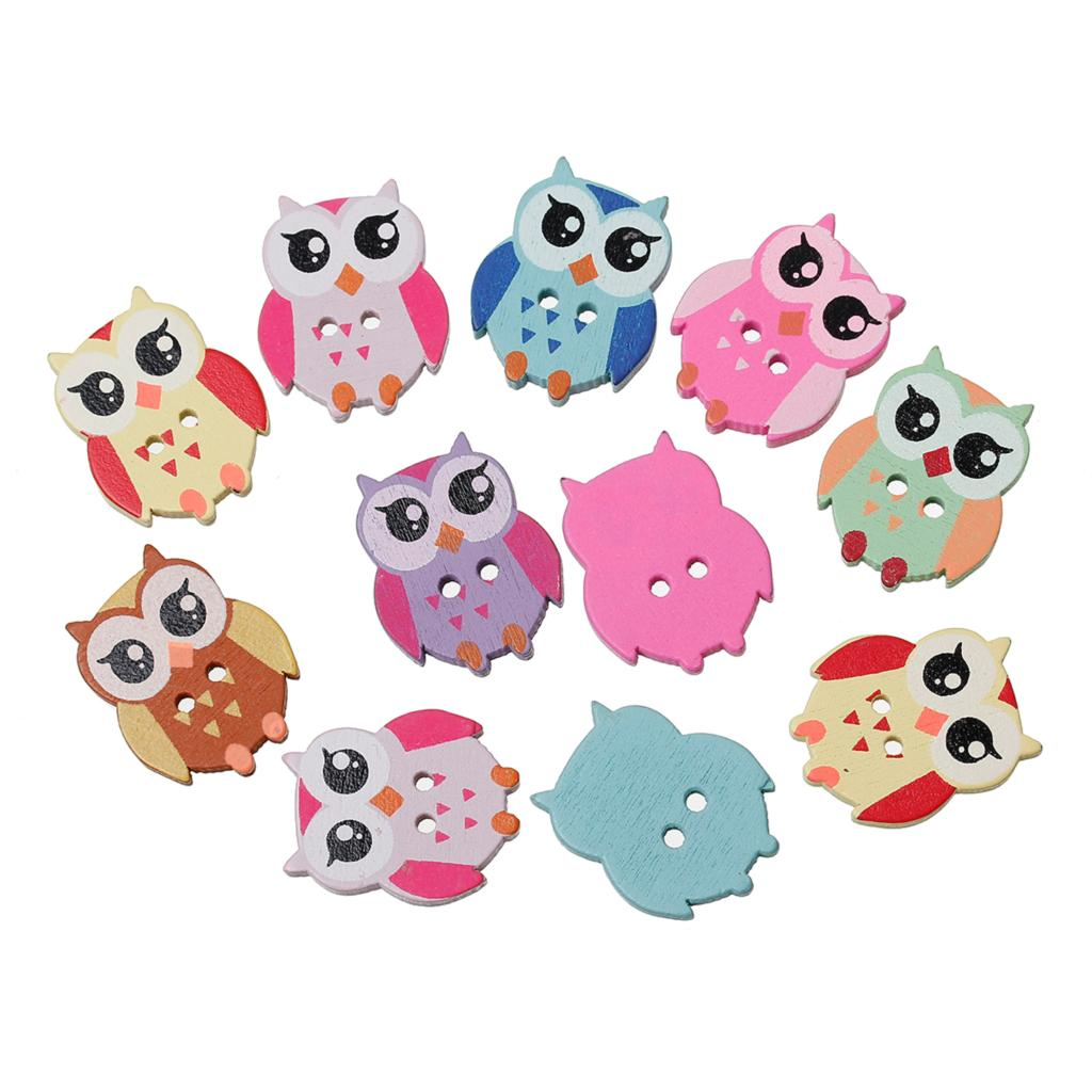 "Wood Sewing Button Scrapbooking Owl Mixed Two Holes 21mm(7/8"")x 17mm(5/8""),8 PCs 2015 new(China (Mainland))"