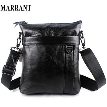 100% genuine leather men bags fashion men's messenger bag business bag real leather cross body bags for men 2016 black color new
