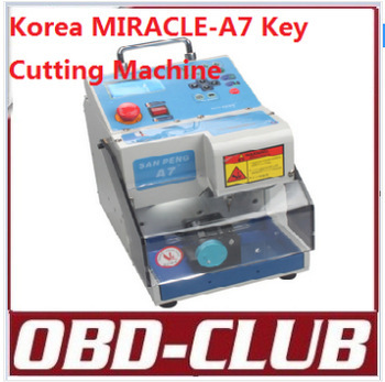 2015 New 100% High Quality Automatic Electronic Korea MIRACLE-A7 Key Cutting Machine MIRACLEA7 MIRACLE A7 Car Key Cutter(China (Mainland))