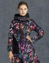 Для женщин Подпушка куртка бренд 2015 Зимняя куртка 90% пуха Подпушка и парка Для женщин печати пуховик Подпушка S Куртки длинные пальто(China)