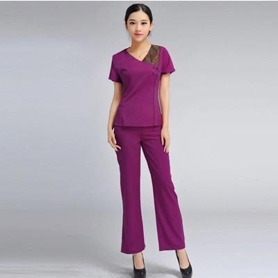 2015 Free shipping summer Thai style hospital uniforms women solid medical uniform beauty nurses uniforms with plus size(China (Mainland))