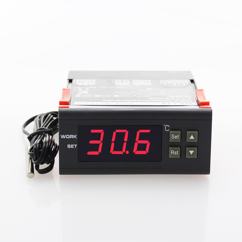 LED Display Low/High Temperature Alarm Sensor Wired Temperature Detector Monitor scope -9.9~99.9 Degree for All GSM Alarm System<br><br>Aliexpress