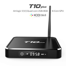 5 UNIDS Android 5.1 TV Caja IPTV Árabe Caja T10 Más Europa Canal TV Box WiFi LED HDMI KODI 16.0 2G/8G Amlogic S905 Media Player