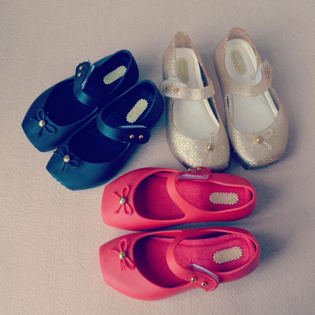 Q 2016 девушка обувь летние новых девушек сандалии мини мелиссы балетные туфли лето головы рыбы преклонится сандалии девушки золота