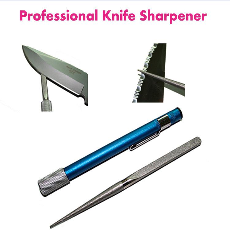 Professional Knife Sharpener Pocket Pen Knife Sharpeners Diamond Sharpener for home and fishing(China (Mainland))