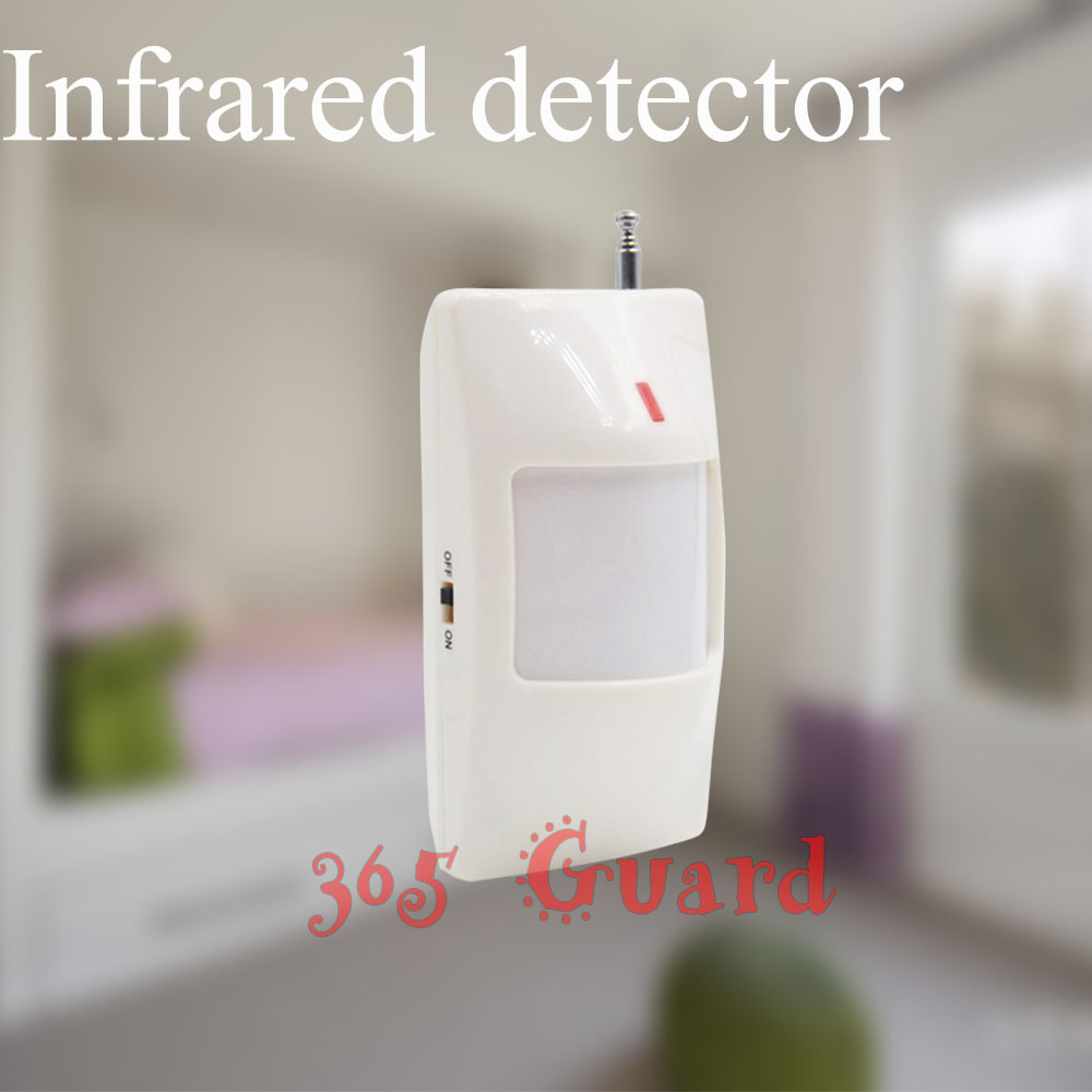 Free shipping new GSM Alarm System White infrared detector 433 MHZ sensor for wireless Home Burglar Security Alarm System(China (Mainland))