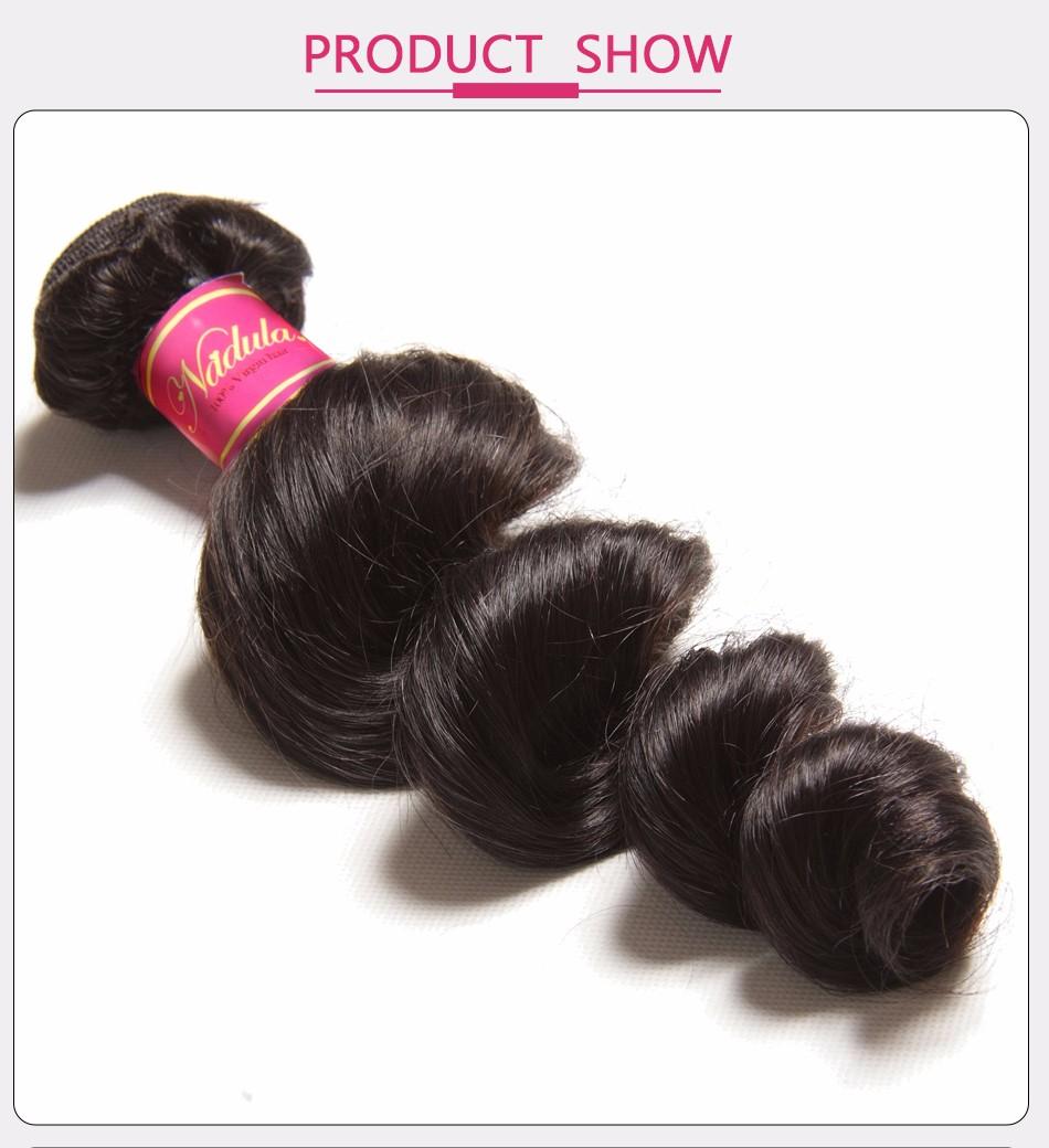 Nadula Hair Brazilian Hair Loose Wave 16-26inch Non-Remy Hair 100% Human Hair Weave Bundles Natural Color Free Shipping