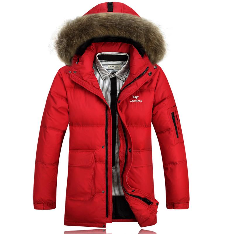 Фотография Big and tall 3XL BRAND Down Jacket long WinterJacket Men Coat 90% White Duck Long Thicken Outwear Hooded Men