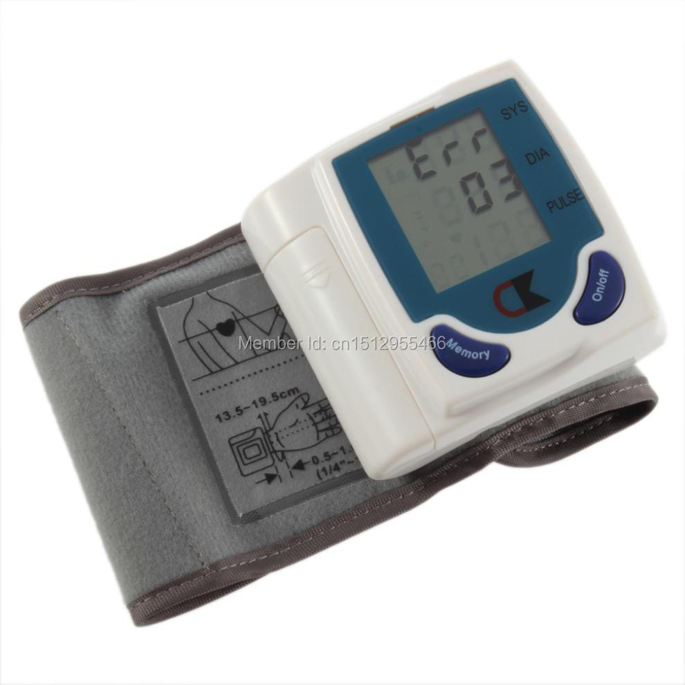 1x Digital Lcd Wrist Cuff Arm Blood Pressure Monitor Heart Beat Meter Lcd Display Machine 2015 Newest(China (Mainland))